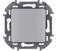 Выключатель одноклавишный проходной Legrand Inspiria 673652 алюминий