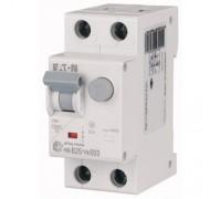 Диф. авт. выключатель HNB-B25/1N/003, 1P+N, 25A, хар-ка B, 6kA, 30mA, тип АC, 2M, Eaton
