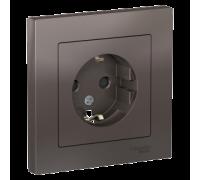 Розетка с заземлением со шт Schneider Electric AtlasDesign ATN000644