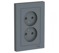 Розетка двойная без заземления Schneider Electric AtlasDesign ATN000720