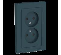 Розетка двойная без заземления со шт Schneider Electric AtlasDesign ATN000822
