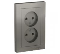 Розетка двойная без заземления Schneider Electric AtlasDesign ATN000920