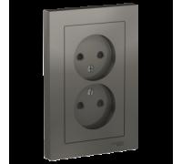 Розетка двойная без заземления со шт Schneider Electric AtlasDesign ATN000922