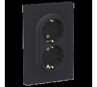 Розетка двойная с заземлением со шт Schneider Electric AtlasDesign ATN001026