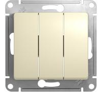 3-клавишный ВЫКЛЮЧАТЕЛЬ, БЕЖЕВЫЙ, Schneider Electric, Серия Glossa, GSL000231