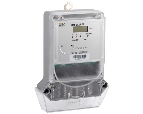 Счетчик электрической энергии трехфазный STAR 302/1 С4-10(100)Э IEK