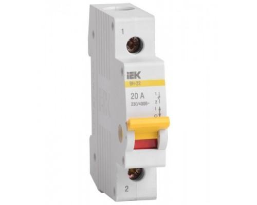 Выключатель нагрузки (мини-рубильник) ВН-32 1Р 25А IEK