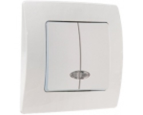 Выключатель двухклавишный с подсв. Makel Lillium natural kare