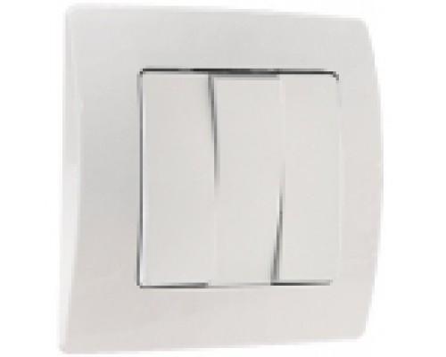 Выключатель трёхклавишный Makel Lillium natural kare