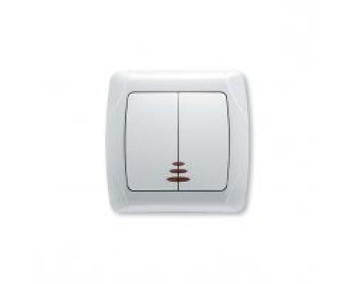 VIKO CARMEN Выключатель двухклавишный с подсветкой