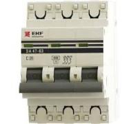Автоматические выключатели EKF ВА 47-63 3Р 25А 4,5кА
