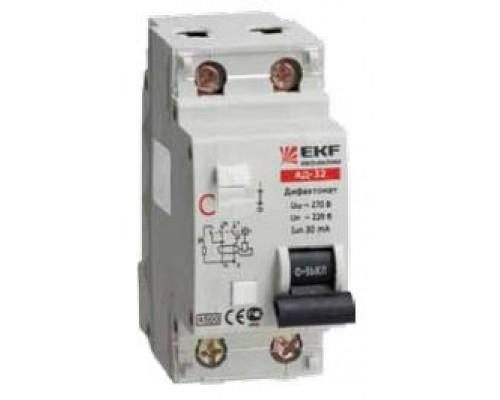 Диф. автомат АД-32 16А/30мА (характеристика C, тип AC) 4,5кА EKF