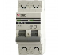 Автоматические выключатели EKF ВА 47-63 2Р 25А 4,5кА