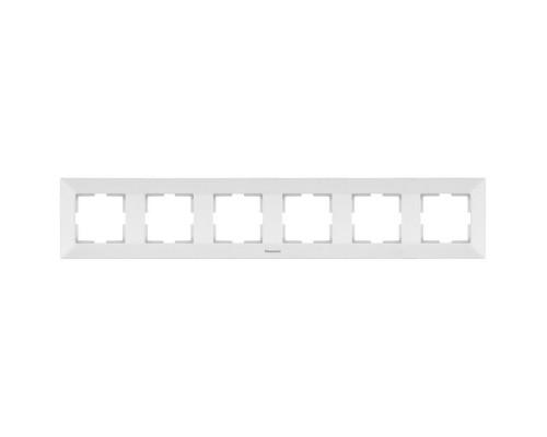 Рамка 6-ая Panasonic Arkedia белая