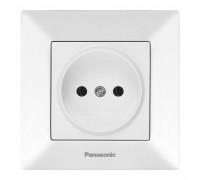 Розетка Panasonic Arkedia белая без заземления