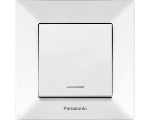 Выключатель Panasonic Arkedia одноклавишный с подсветкой белый